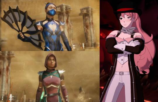 Kitana and Jade vs Neopolitan