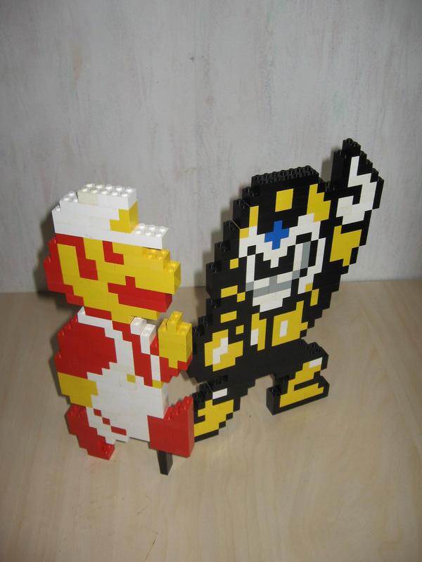 Mario and Pharaohman by Turoel