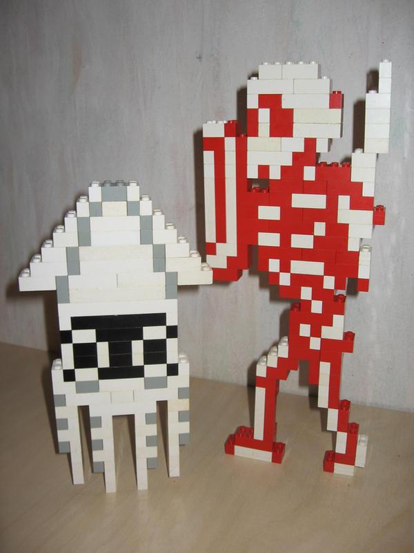 Lego - Medusa and Stalfos by Turoel