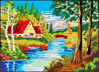 House at a lake by Turoel
