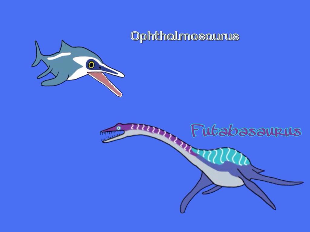 Dinosaur King : Opthalmosaurus and Futabasaurus by ...  Dinosaur King :...