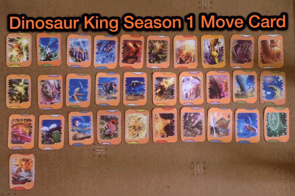 Dinosaur king season 1 move cards by thunderstrike16 on - Dinosaure king saison 2 ...