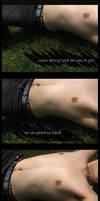 A boy in stitches