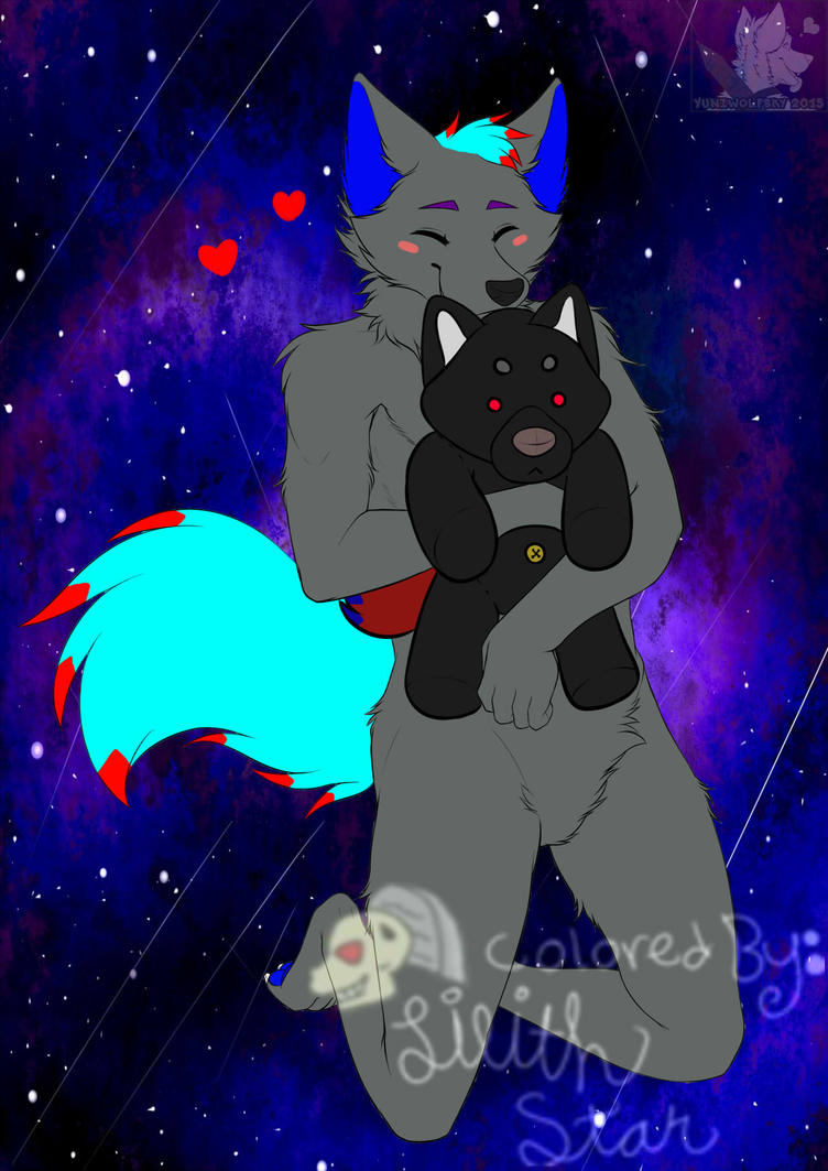 Gray with Lilith Plush by LilithStar1210