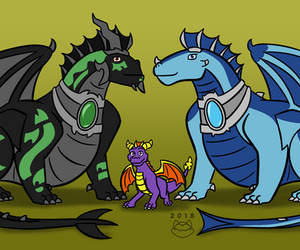 The Royal Dragon Family by fatthoron