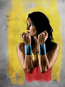 Wonder Woman colour play