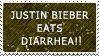 JUSTIN BIEBER EATS DIARRHEA by kat-in-the-box