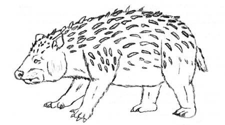 Phytarctos - Panda hedgehog by Zimices