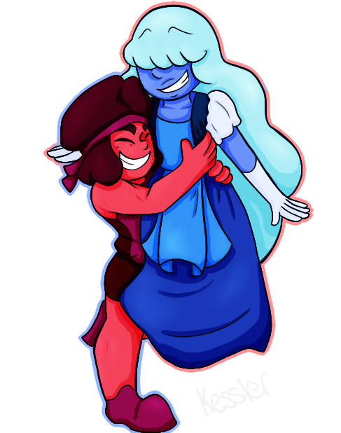 Su ruby and sapphire by asymmetricace on deviantart - Ruby and sapphire su ...