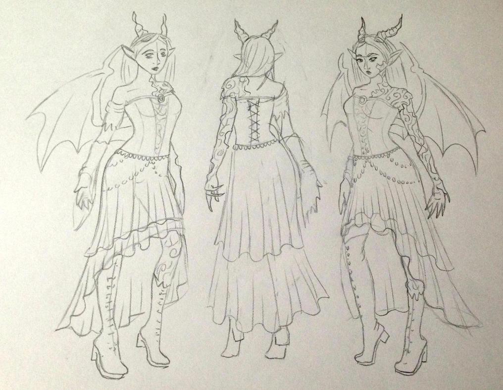 New costume sketch by KiraVanndrea