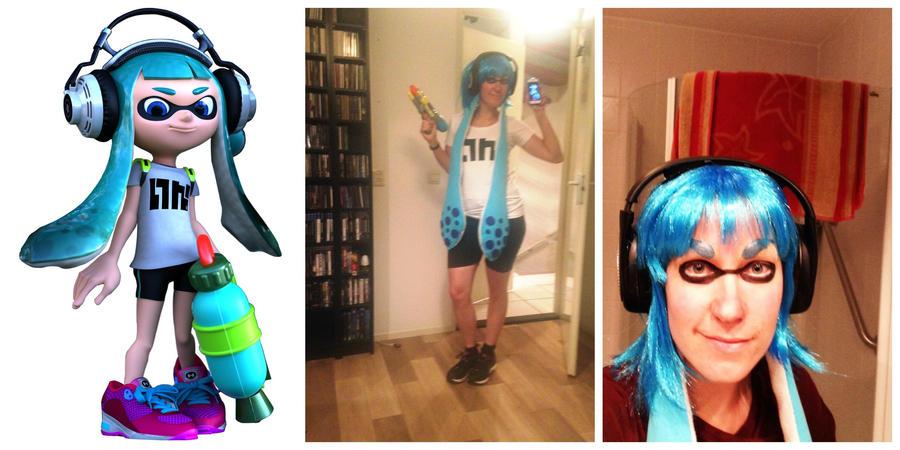 Splatoon cosplay - Inkling collage by KiraVanndrea