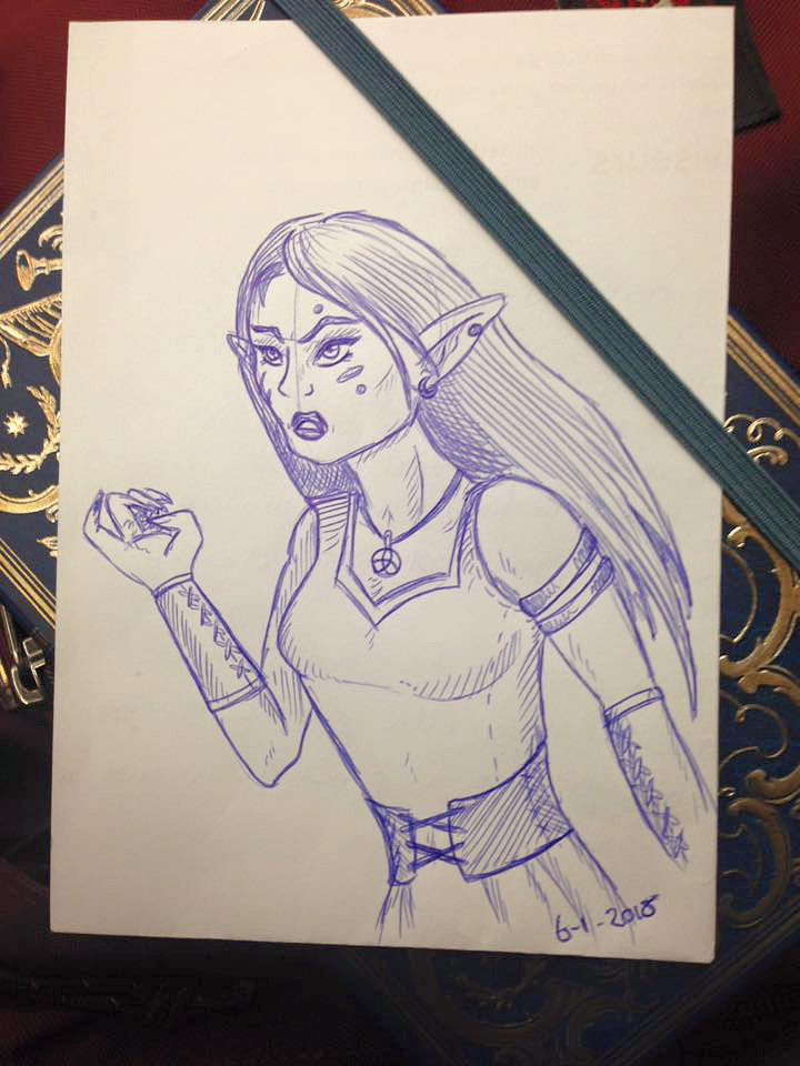 Revenge - sketch by KiraVanndrea