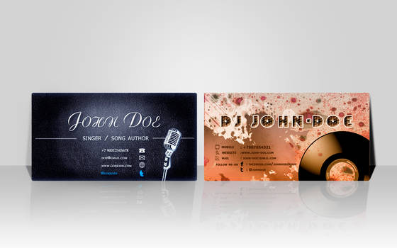 business card design by foxm13