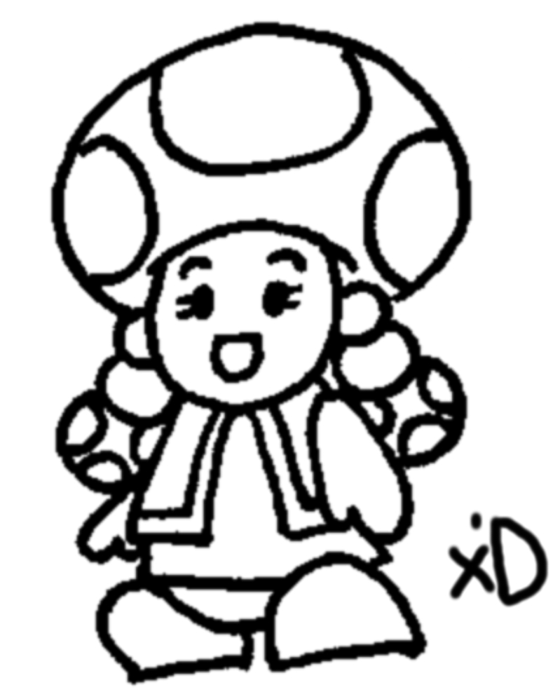 Toadette coloring coloring pages for Toad and toadette coloring pages