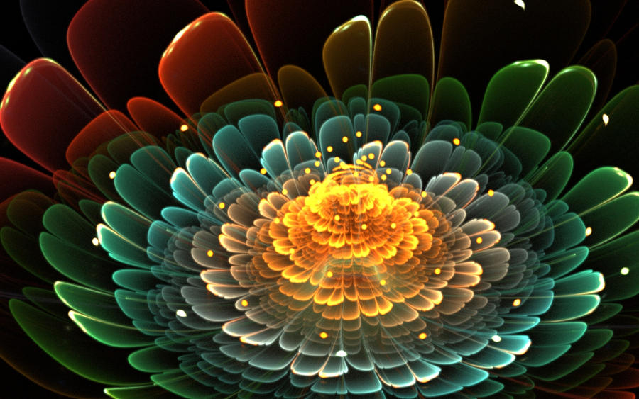Apophysis Tutorial:Beautiful Colorful 3D Flowers by fengda2870 on ...