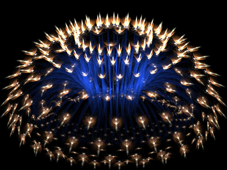 Fractal Olympic Torch by fengda2870