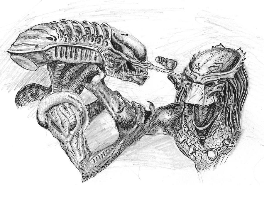 Alien vs predator by niothedreamer