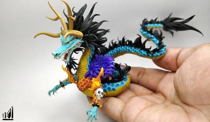 Dragon Kaido Polymer Clay Figure by BL-ea-CH