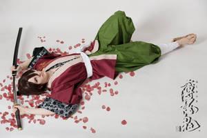 Souji Okita - Roses by RomaiLee