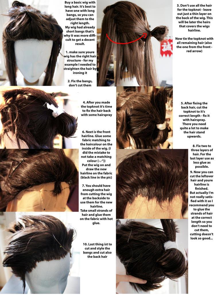 Kondou Isami - wig tutorial by RomaiLee