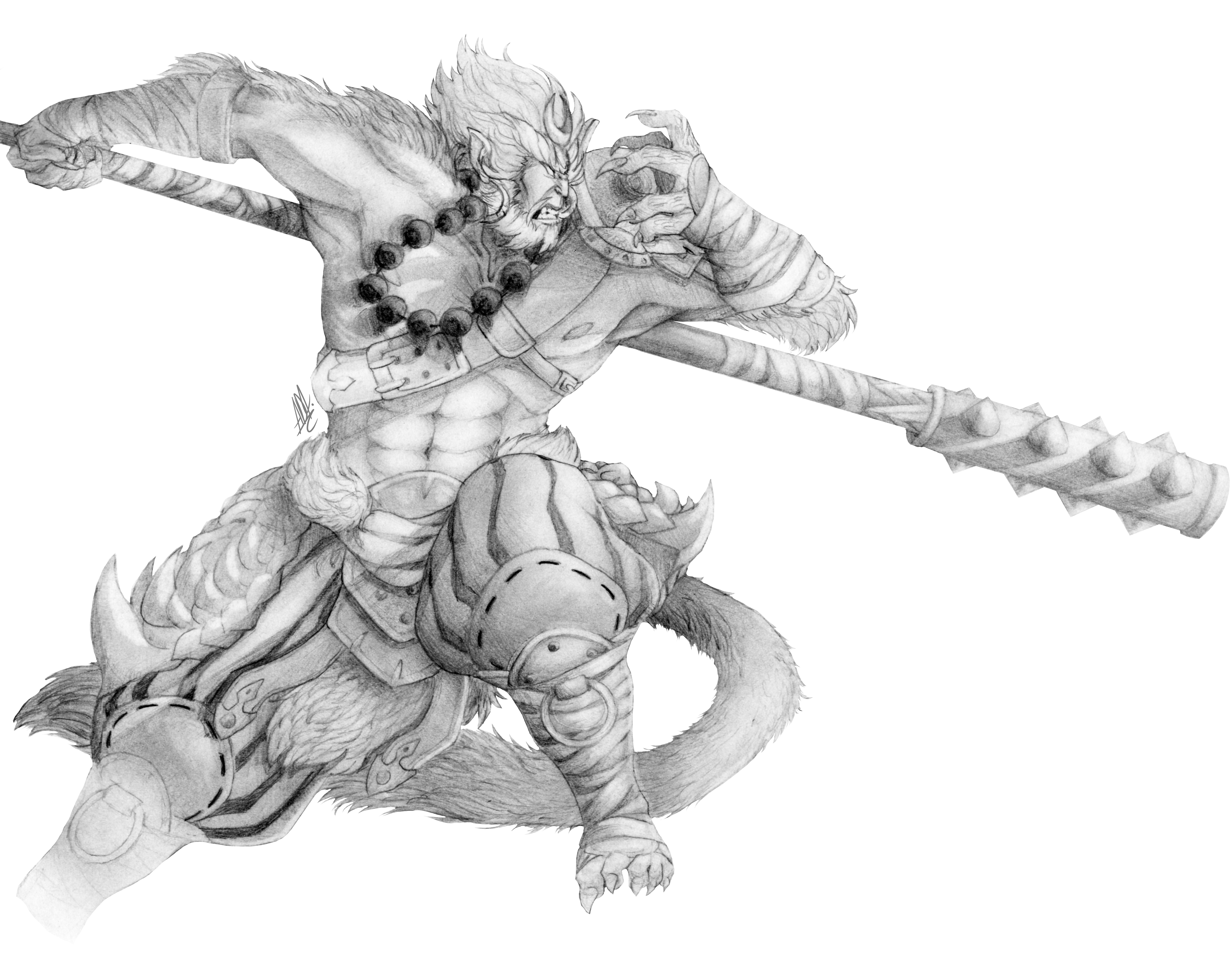 This is a photo of Adorable Sun Wukong Drawing