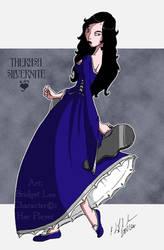 Therasa Silvernite in Gown