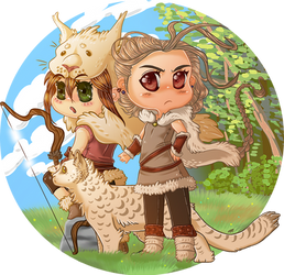Octopath Traveler - Hunters by ThatxDamnxGirl