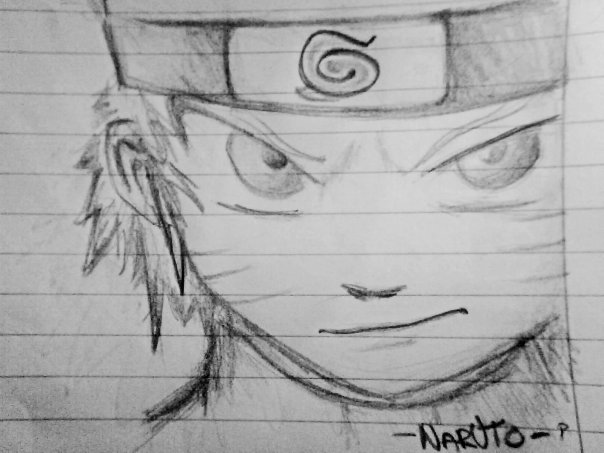 Naruto pencil drawing by needle weedle