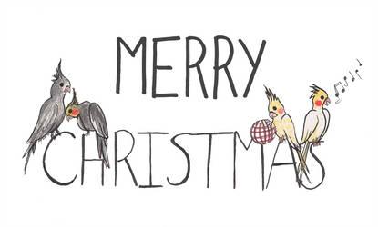 Merry Christmas Cockatiels 2