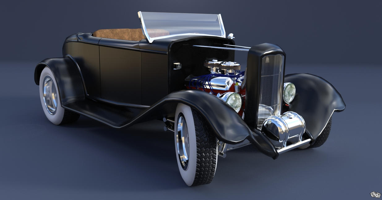 1932 Ford Hot Rod - Black Betty by Lucky-Dice-Kustoms on DeviantArt