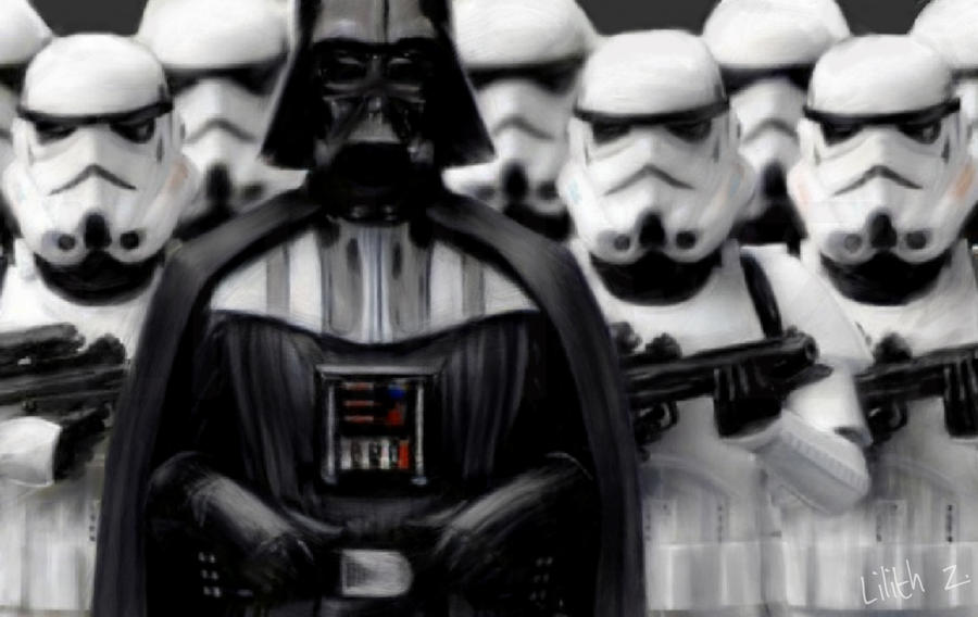 Image result for cartoon darth vader and stormtroopers