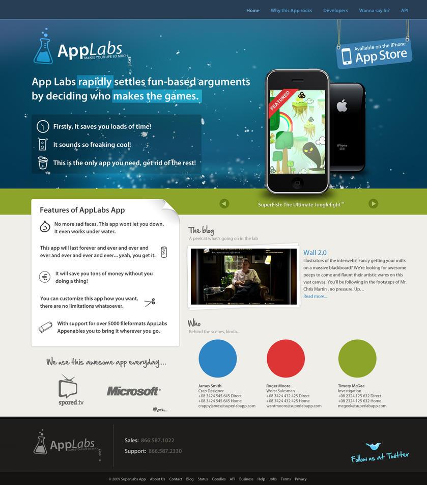Super Lab App - Iphone Website by supaflji