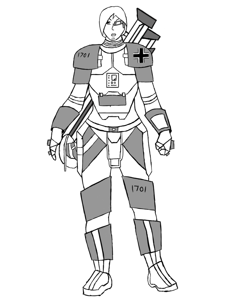 Female German Space Marine Concept by gmodhalo