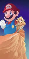 Peach and Mario by zanahoriaman