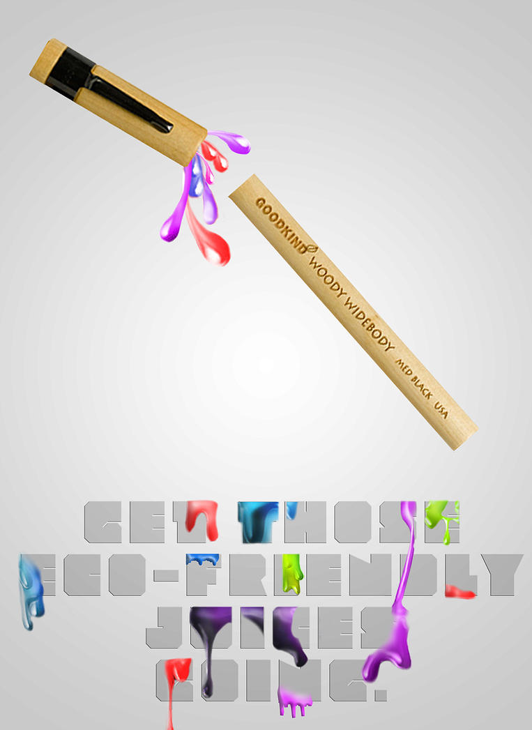 typography for goodkind eco friendly pens by son of bardock on deviantart