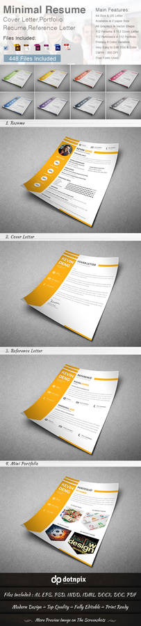 Minimal Resume - Cover Letter (4 in 1)
