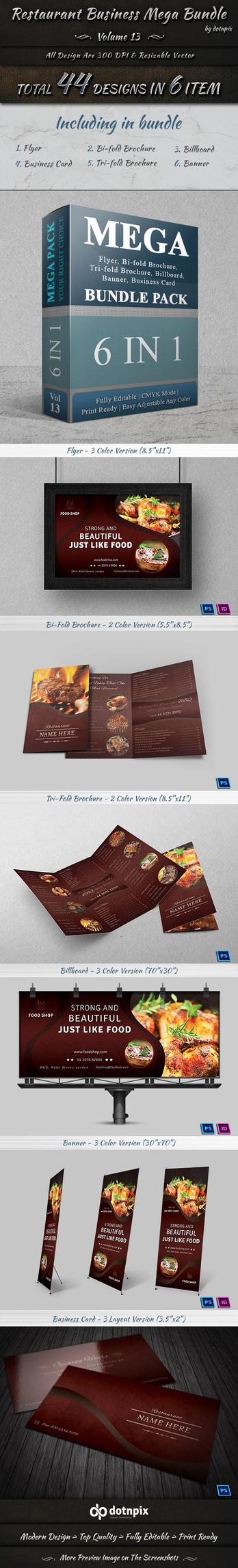 Restaurant Business Mega Bundle | Volume 13 by dotnpix