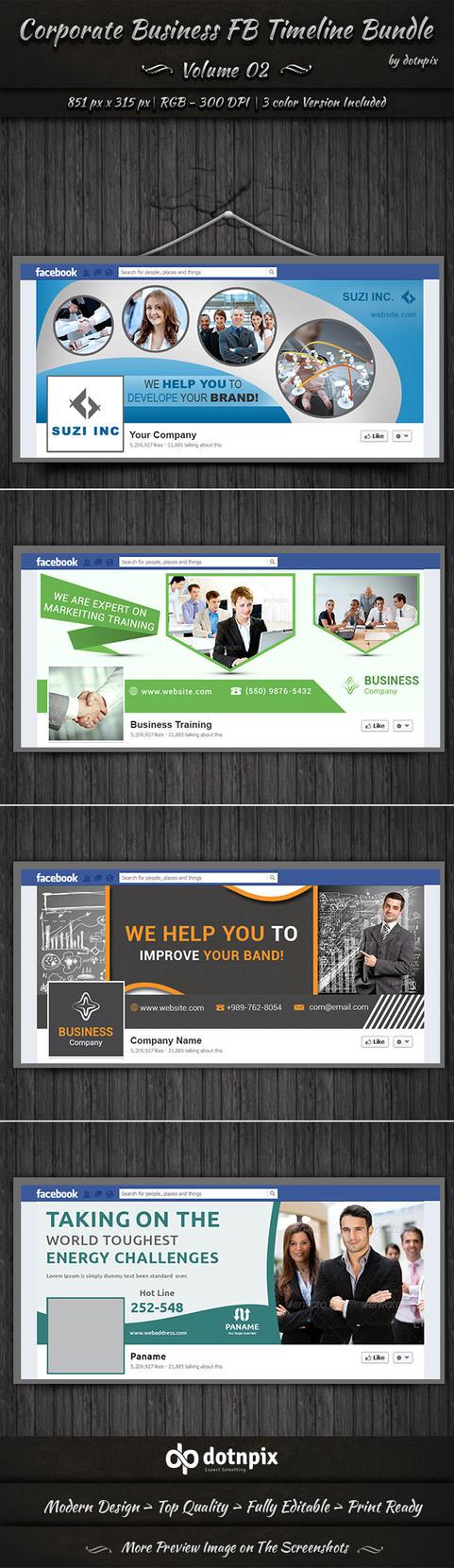 Corporate Business FB Timeline Bundle | Volume 2 by dotnpix