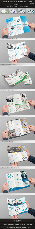Corporate Business Tri-Fold Brochure Bundle | v2 by dotnpix
