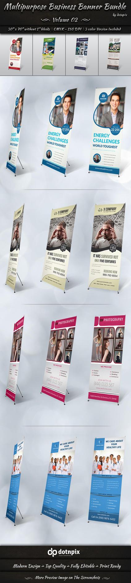 Multipurpose Business Banner Bundle | Volume 2 by dotnpix