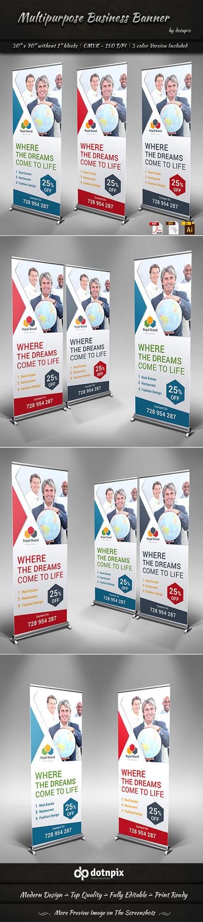 Multipurpose Business Banner by dotnpix