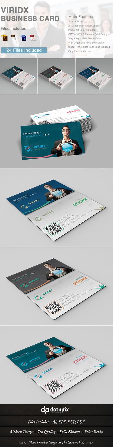 Viridx Business Card by dotnpix