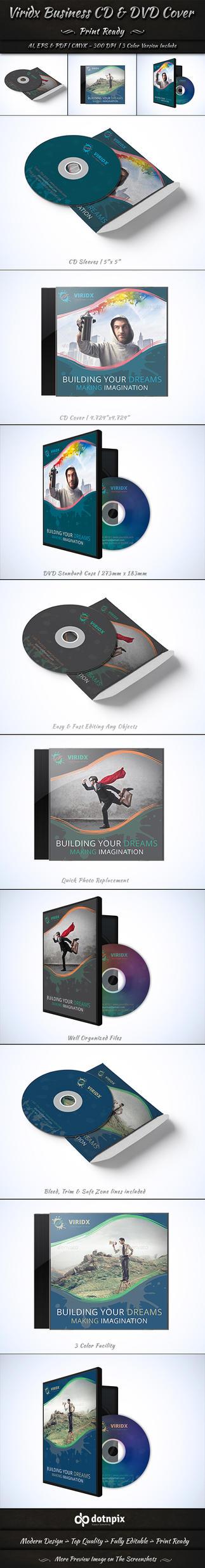 Viridx Business CD & DVD Cover by dotnpix