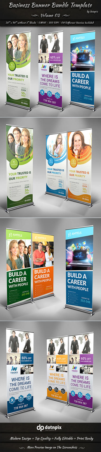 Business Banner Bundle Template - Volume 2 by dotnpix