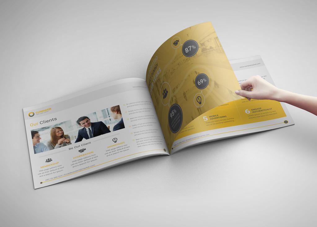Landscape Content Marketing Brochure by dotnpix