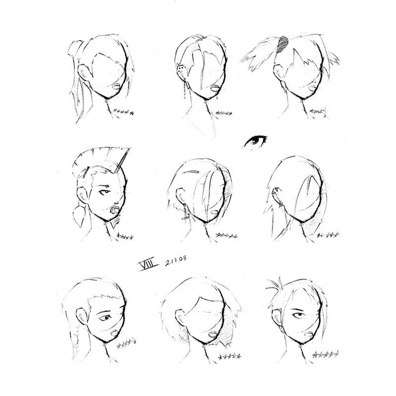 Причёски мультяшные