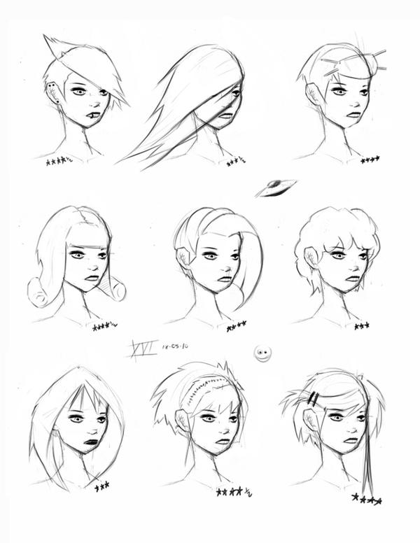 hair styles only