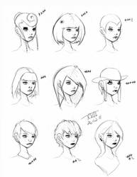 Hair Styles Vol 17 by FabledCreative