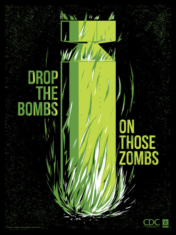 Zombie Propaganda - Drop the Bombs by ron-guyatt