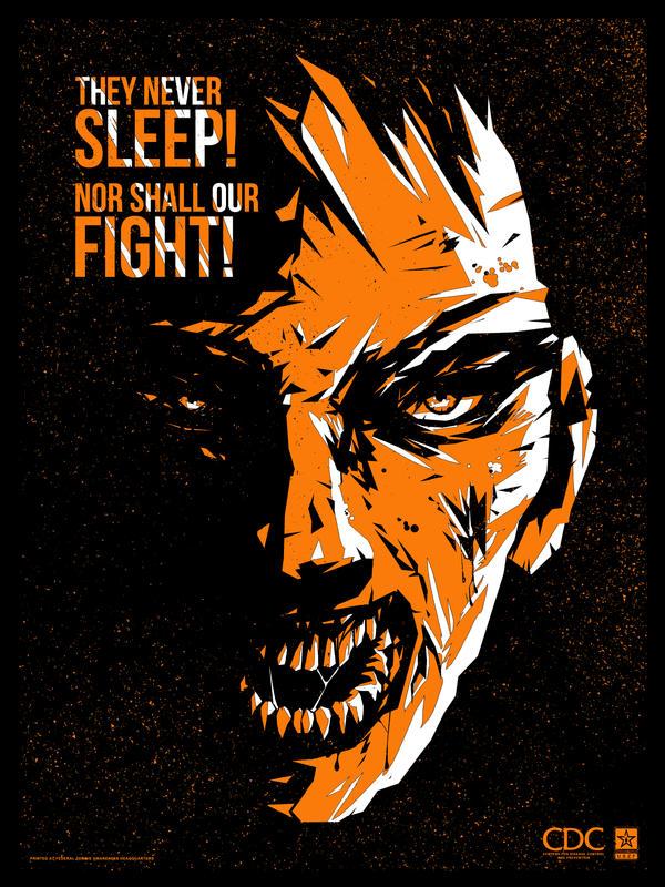 Zombie Propaganda - They Never Sleep by ron-guyatt
